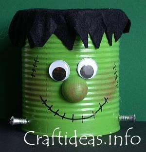 Craft Ideas Recycled Materials on Halloween Craft   Recycling Craft   Frankie The Friendly Frankenstein