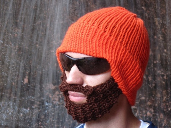 Knitting Patterns By Needle Size : Fun(ny) find?Bearded Beanies Little Miss Redhead